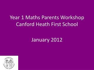 Year 1 Maths Parents Workshop Canford Heath First School
