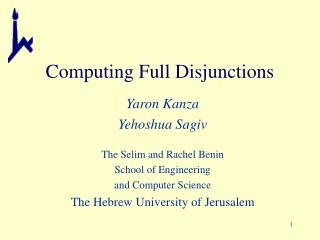 Computing Full Disjunctions