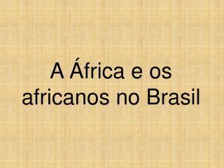 A África e os africanos no Brasil