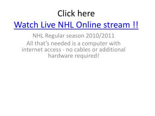 Toronto Maple Leafs vs Ottawa Senators live NHL Regular Seas
