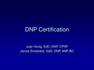 DNP Certification