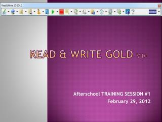 Read & Write Gold  v10
