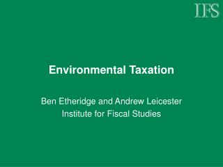 Environmental Taxation