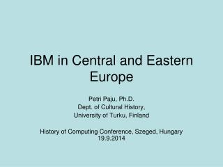 IBM in Central and Eastern Europe
