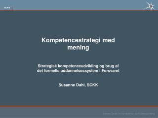 Kompetencestrategi med mening
