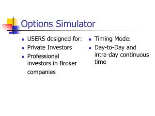 Options Simulator