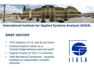 BRIEF HISTORY 1972  initiative of U.S. and Soviet Union