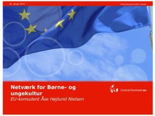 Netværk for Børne- og ungekultur EU-konsulent Åse Højlund Nielsen