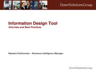 Information Design Tool Overview and Best Practices