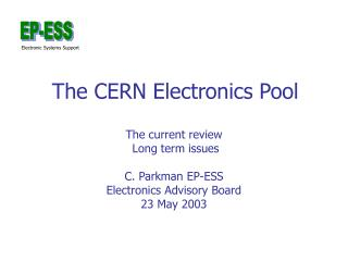 The CERN Electronics Pool