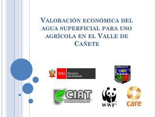 Valoración económica del agua superficial para uso agrícola en el Valle de Cañete