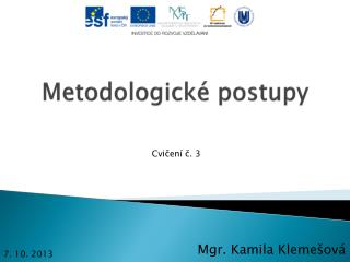 Metodologické postupy