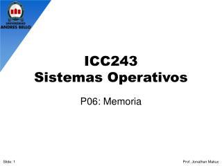 ICC243 Sistemas Operativos