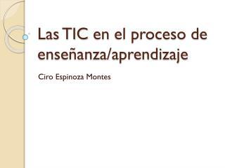 Las TIC  en  el proceso de  enseñanza/aprendizaje