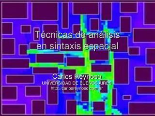 T�cnicas de an�lisis en sintaxis espacial