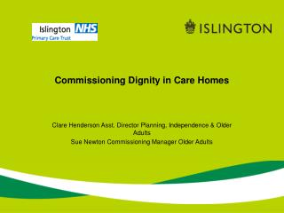 Commissioning Dignity in Care Homes