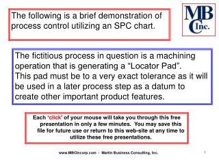 The following is a brief demonstration of process control utilizing an SPC chart.