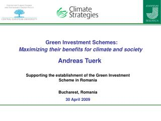Green Investment Schemes: Maximizing their benefits for climate and society