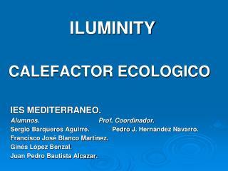 ILUMINITY CALEFACTOR ECOLOGICO