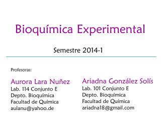 Bioqu ímica Experimental