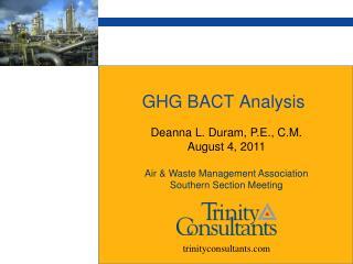 GHG BACT Analysis