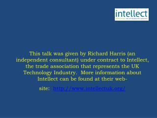 The EU regulatory framework for electronic communications One size fits all Richard Harris