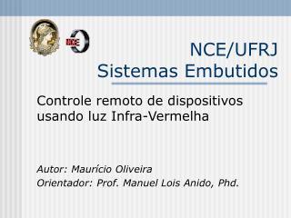 NCE/UFRJ  Sistemas Embutidos