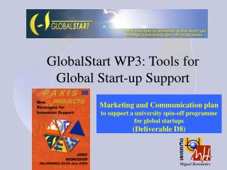 GlobalStart WP3: Tools for Global Start-up Support