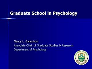 Graduate School in Psychology