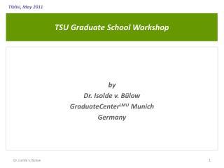 TSU Graduate School Workshop