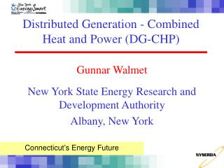 Distributed Generation - Combined Heat and Power DG-CHP