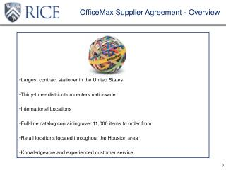 OfficeMax Supplier Agreement - Overview