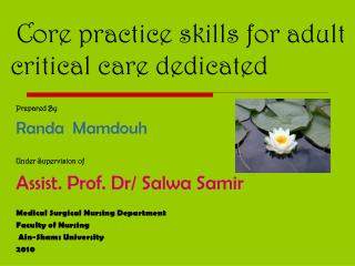 Core practice skills for adult critical care dedicated