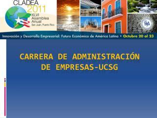 CARRERA DE ADMINISTRACIÓN DE EMPRESAS-UCSG