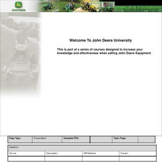 Welcome To John Deere University