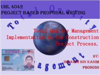 UHL 4042 PROJECT BASED PROPOSAL WRITING