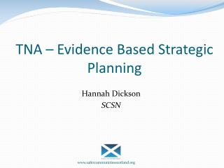 TNA – Evidence Based Strategic Planning