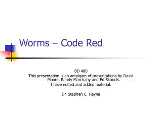 Worms � Code Red