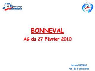 BONNEVAL AG du 27 Février 2010