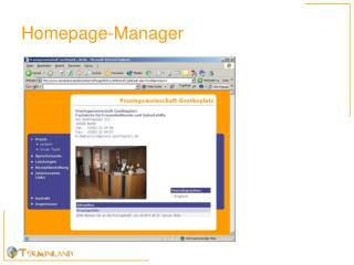 Homepage-Manager