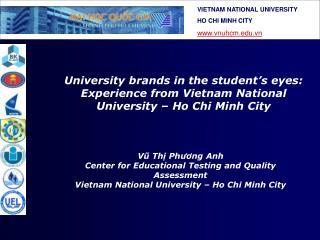 Vũ Thị Phương Anh Center for Educational Testing and Quality Assessment