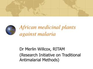 African medicinal plants against malaria
