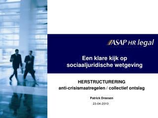 Een klare kijk op  sociaaljuridische wetgeving