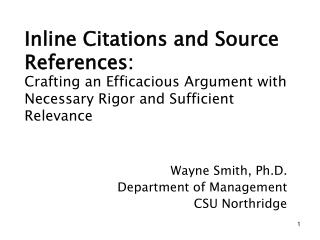 Inline Citations and Source References:
