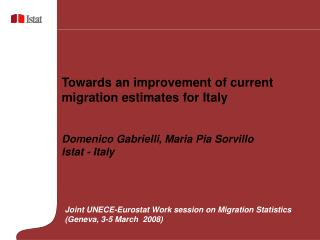 Towards an improvement of current migration estimates for Italy