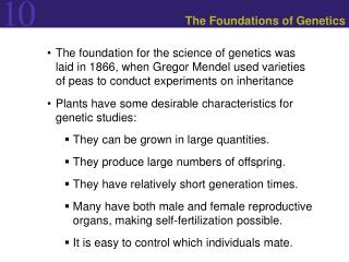 The Foundations of Genetics