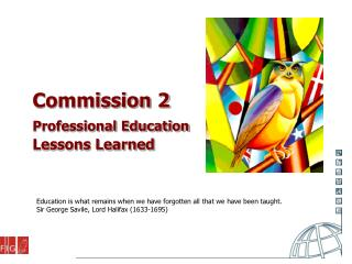 Commission 2 Professional Education Lessons Learned