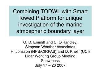 G. D. Emmitt and C. O'Handley,  Simpson Weather Associates