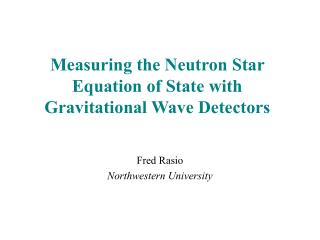 Measuring the Neutron Star Equation of State with Gravitational Wave Detectors