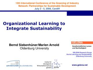 Organizational Learning to Integrate Sustainability